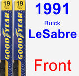Front Wiper Blade Pack for 1991 Buick LeSabre - Premium