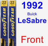 Front Wiper Blade Pack for 1992 Buick LeSabre - Premium