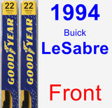Front Wiper Blade Pack for 1994 Buick LeSabre - Premium
