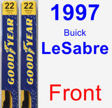 Front Wiper Blade Pack for 1997 Buick LeSabre - Premium