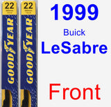 Front Wiper Blade Pack for 1999 Buick LeSabre - Premium