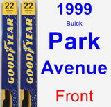 Front Wiper Blade Pack for 1999 Buick Park Avenue - Premium