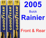 Front & Rear Wiper Blade Pack for 2005 Buick Rainier - Premium