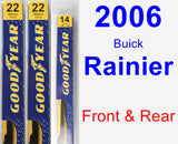 Front & Rear Wiper Blade Pack for 2006 Buick Rainier - Premium