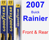 Front & Rear Wiper Blade Pack for 2007 Buick Rainier - Premium