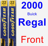 Front Wiper Blade Pack for 2000 Buick Regal - Premium