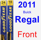 Front Wiper Blade Pack for 2011 Buick Regal - Premium