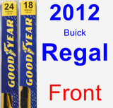 Front Wiper Blade Pack for 2012 Buick Regal - Premium