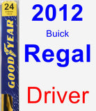 Driver Wiper Blade for 2012 Buick Regal - Premium