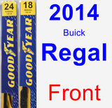 Front Wiper Blade Pack for 2014 Buick Regal - Premium
