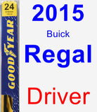 Driver Wiper Blade for 2015 Buick Regal - Premium