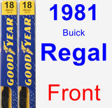 Front Wiper Blade Pack for 1981 Buick Regal - Premium