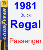 Passenger Wiper Blade for 1981 Buick Regal - Premium