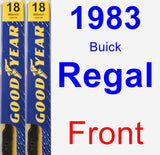 Front Wiper Blade Pack for 1983 Buick Regal - Premium