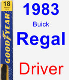 Driver Wiper Blade for 1983 Buick Regal - Premium