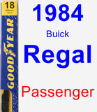 Passenger Wiper Blade for 1984 Buick Regal - Premium