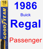 Passenger Wiper Blade for 1986 Buick Regal - Premium