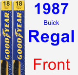Front Wiper Blade Pack for 1987 Buick Regal - Premium