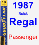 Passenger Wiper Blade for 1987 Buick Regal - Premium