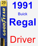 Driver Wiper Blade for 1991 Buick Regal - Premium