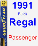 Passenger Wiper Blade for 1991 Buick Regal - Premium