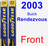 Front Wiper Blade Pack for 2003 Buick Rendezvous - Premium