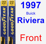 Front Wiper Blade Pack for 1997 Buick Riviera - Premium