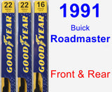 Front & Rear Wiper Blade Pack for 1991 Buick Roadmaster - Premium