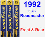 Front & Rear Wiper Blade Pack for 1992 Buick Roadmaster - Premium