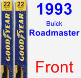 Front Wiper Blade Pack for 1993 Buick Roadmaster - Premium