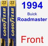 Front Wiper Blade Pack for 1994 Buick Roadmaster - Premium
