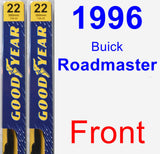 Front Wiper Blade Pack for 1996 Buick Roadmaster - Premium
