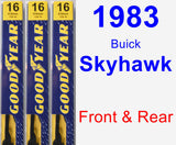 Front & Rear Wiper Blade Pack for 1983 Buick Skyhawk - Premium