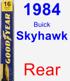Rear Wiper Blade for 1984 Buick Skyhawk - Premium