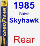 Rear Wiper Blade for 1985 Buick Skyhawk - Premium