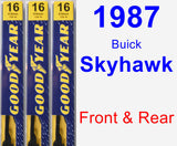 Front & Rear Wiper Blade Pack for 1987 Buick Skyhawk - Premium