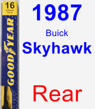 Rear Wiper Blade for 1987 Buick Skyhawk - Premium
