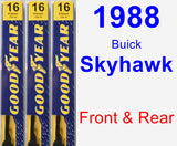 Front & Rear Wiper Blade Pack for 1988 Buick Skyhawk - Premium