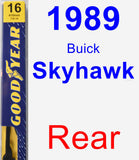 Rear Wiper Blade for 1989 Buick Skyhawk - Premium