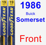 Front Wiper Blade Pack for 1986 Buick Somerset - Premium