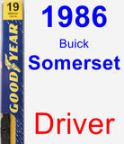 Driver Wiper Blade for 1986 Buick Somerset - Premium