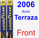 Front Wiper Blade Pack for 2006 Buick Terraza - Premium