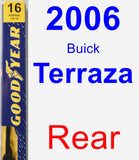 Rear Wiper Blade for 2006 Buick Terraza - Premium