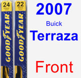 Front Wiper Blade Pack for 2007 Buick Terraza - Premium