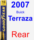Rear Wiper Blade for 2007 Buick Terraza - Premium
