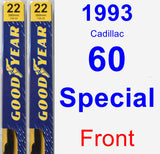 Front Wiper Blade Pack for 1993 Cadillac 60 Special - Premium