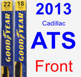 Front Wiper Blade Pack for 2013 Cadillac ATS - Premium