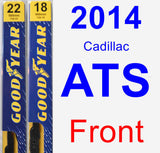 Front Wiper Blade Pack for 2014 Cadillac ATS - Premium