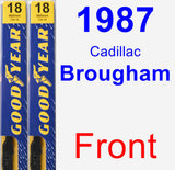 Front Wiper Blade Pack for 1987 Cadillac Brougham - Premium