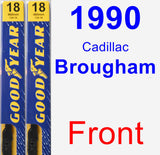 Front Wiper Blade Pack for 1990 Cadillac Brougham - Premium